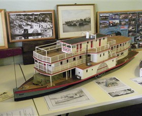 Wentworth Model Paddlesteamer Display - Tourism Cairns