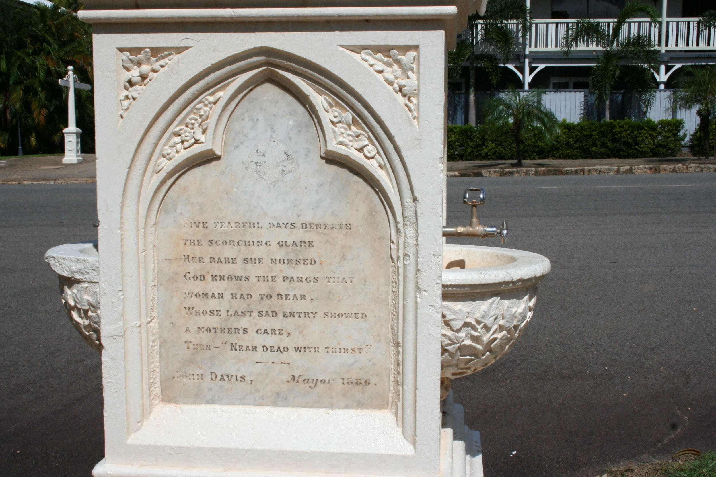 Mary Watson Monument Cooktown - Tourism Cairns