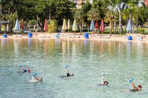 Aqua fitness in the Wave Lagoon - Tourism Cairns